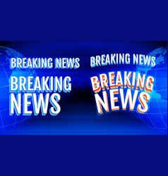 breaking news letters set vector image
