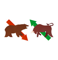 Bull and bear market vector
