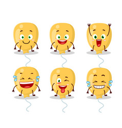 Cartoon character yellow baloon with smile vector