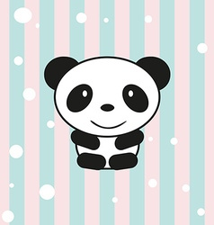 Cartoon little panda vector image