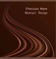 Chocolate swirl waye background dark brown vector