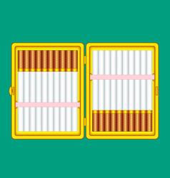 Cigarette case vector