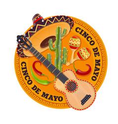 cinco de mayo fiesta holiday may party in mexico vector image