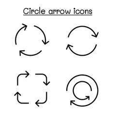 Circle arrow icon set graphic design vector