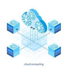 cloud computing concept 05 vector image
