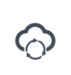 Cloud data sync refresh icon for apps and vector