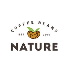 coffee natural logo vintage label product vector image