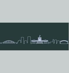 Columbus single line skyline vector