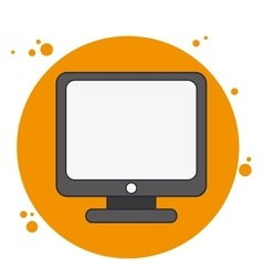 Computer gadget technology icon vector