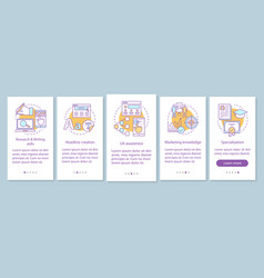 Copywriting courses onboarding mobile app page vector