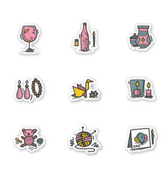 Craft hobby stickers vector