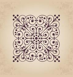 decorative calligraphic ornate element vector image