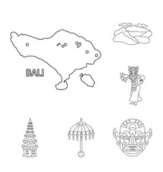 Design of balinese and caribbean sign set vector