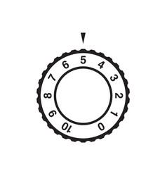 Dial choosing mode wheel stock isolated on white vector