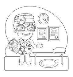 doctor coloring page vector image