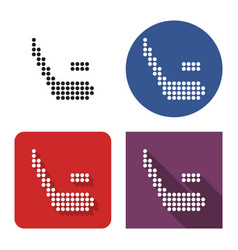 dotted icon hockey in four variants with short vector image
