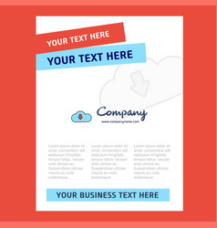 downloading title page design for company profile vector image