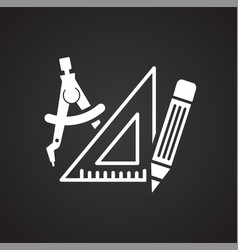Engineering icon on black background for graphic vector