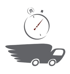 Fast delivery icons vector image