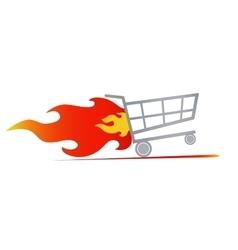 Fast shopping cart vector