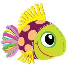 Fish soft toy vector