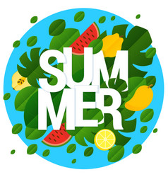 flat design summer template vector image