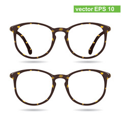 glasses classic glasses vintage style vector image