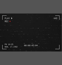 glitch concept on a camera viewfinder vector image