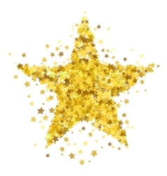 Gold star burst starry pattern vector