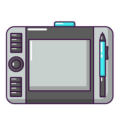 Graphic tablet icon cartoon style vector