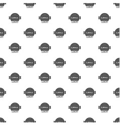 grill menu pattern seamless vector image