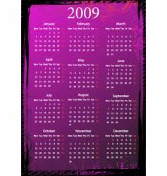 grungy calendar vector image vector image