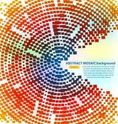 haftone mosaic vector image