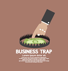 Hand with banknote business trap concept vector