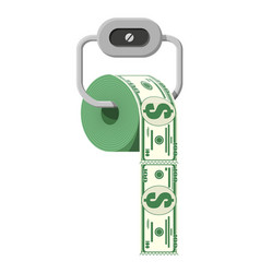 hank toilet paper dollar money vector image