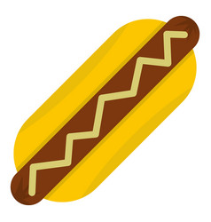 hot dog with mustard icon isolated vector image