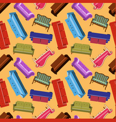 house furniture pattern seamless background home vector image