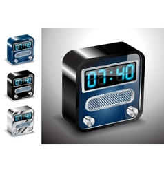 icons button alarm clock vector image