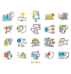 icons for e-business engineering idea icons vector image