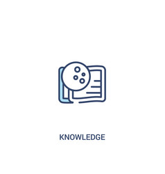 Knowledge concept 2 colored icon simple line vector