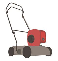 Lawn mower icon grass garden mowing gardening vector