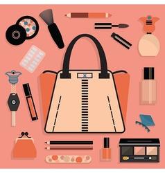 Make up design elements vector image