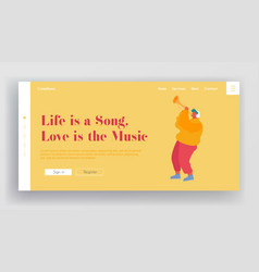 musical show or concert performance website vector image