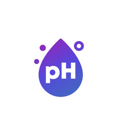 Ph icon with a drop vector
