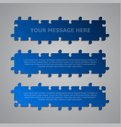 Pieces puzzle signboard story board banner vector