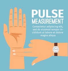 Pulse measurement for medical poster vector