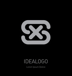 s and x logo sx - design element or icon initial vector image