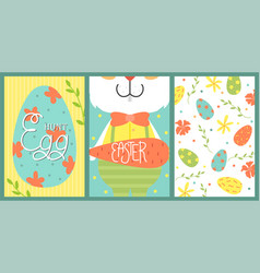 set of cute easter cards vector image
