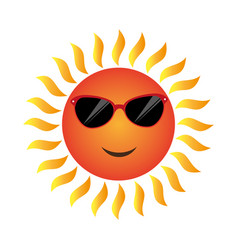 Summer sun character icon vector