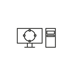 target on computer icon vector image